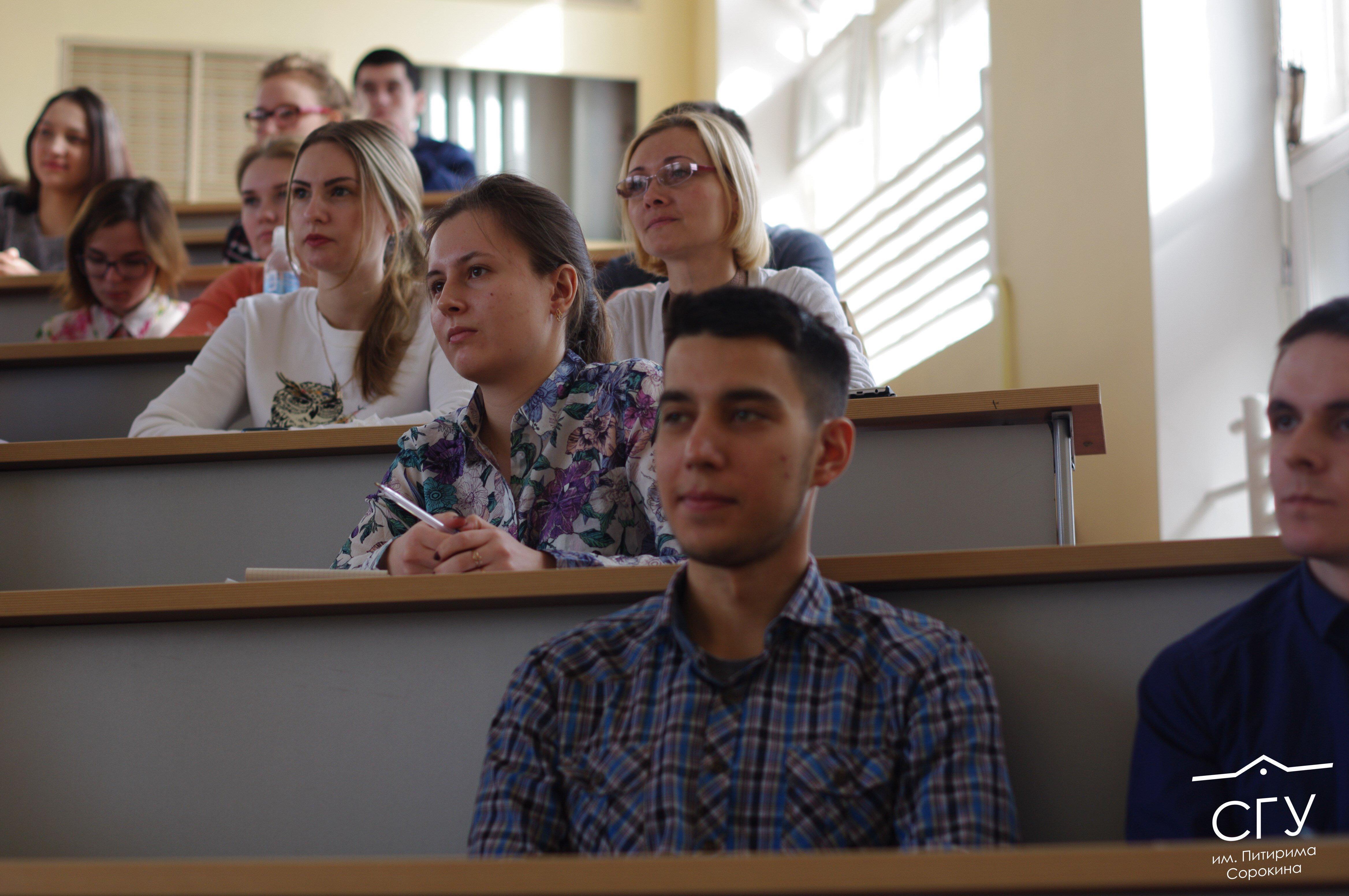 Студенты СГУ им Питирима Сорокина пообщались с министром труда  Для нашего направления это очень актуально мы ориентируемся какие курсовые и дипломные работы писать на какие практики направлять студентов и на какие